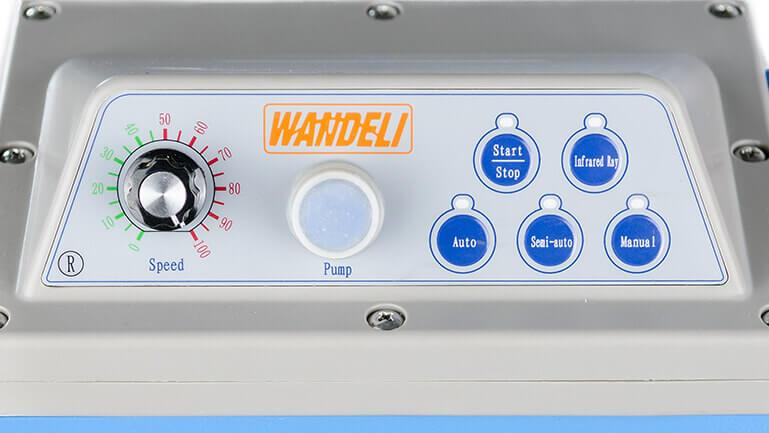 Kontrollpanel på Wandeli vattensåg.
